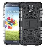 Carcasa para Samsung Galaxy S5, Aldhofa (Tpu Series), funda híbrida de doble capa, resistente a las caídas, funda para teléfono móvil con St?nder para Samsung Galaxy S5 (negro)