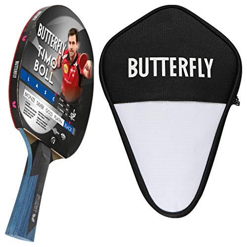 Butterfly Timo Boll Black Tischtennisschläger + Tischtennishülle | Tischtennisschlägerset | Tischtennis Profi Set