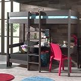 Alfred & Compagnie Armance & Faustin - Litera con asiento desplegable y escritorio, pino, color topo