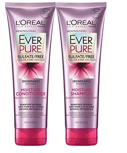 Price comparison product image L'Oreal Paris EverPure Rosemary Moisture Bundle: Shampoo & Conditioner,  8.5 Ounce Each