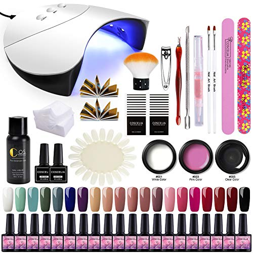 Saint-Acior UV-nagellak gellak nagelverlengingsset gel DIY set 36W UV + LED nagellamp starterset nageldesign gelnagel nagelset