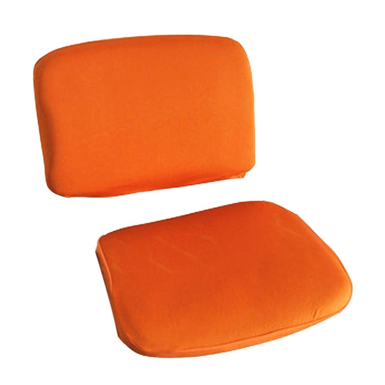 バリアシエスタ眉FLAMEER 2ピースユニバーサルチェアスリップカバー(1ピースチェアバック&シートカバー)、フィット回転&スタンド種類 - オレンジ
