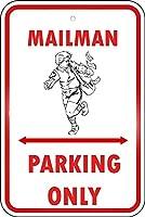 185新しいブリキサイン郵便配達員駐車場のみ。アルミニウム金属道路標識壁装飾8x12インチ