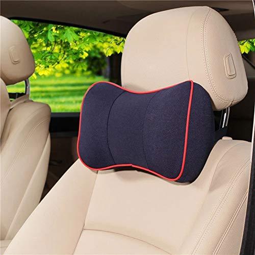 Oreiller de soutien de cou de siège d'auto de HomDSim, mousse de mémoire + tissu respirable, oreiller de soutien principal Coussin pour l'appui-tête relaxant, ajustez la hauteur avec la sangle réglable