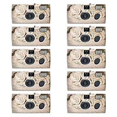 10 Pack - Disposable Camera for Weddings - 35mm Film, Single-use Film Cameras by 21Supply