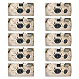 10 Pack - Disposable Camera for Weddings - 35mm Film, Single-use Film Cameras