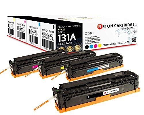 4 Original Reton Toner 35% höhere Reichweite kompatibel zu HP CF210X CF210A CF211A CF212A CF213A131A für HP Laserjet Pro 200 Color M251n M251nw MFP M276n M276nw