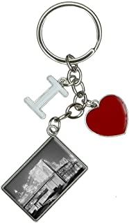 Brooklyn Bridge Night I Heart Love Keychain Key Ring