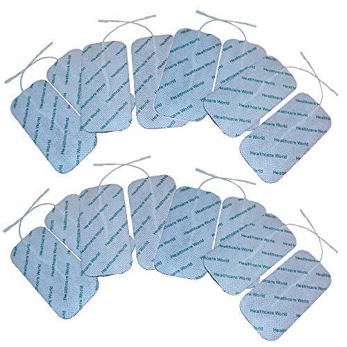 Almohadillas de TENS grandes 16 decenas de electrodos para TPN, Lloyds, Tenscare, Neurotrac etc máquinas