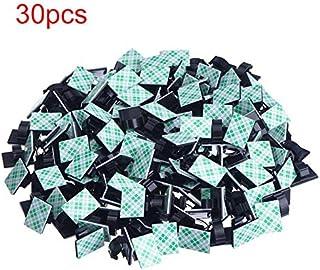 Hotsilai Lot de 40 clips de c/âble auto-adh/ésifs 3M r/ésistants pour TV PC Noir blanc