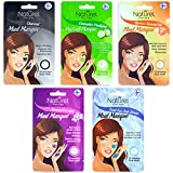 Facial Mud Mask Set of 5 - Exfoliating, Deep Cleansing, Clarifying, Pore Minimizer, Hydrating, Aromatherapy, Cucumber, Apricot/Almond, Dead Sea, Charcoal Face Peel