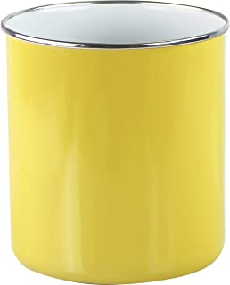 yellow utensil jar