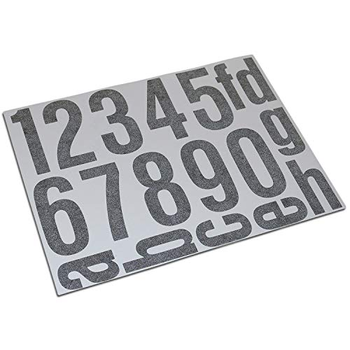 Hausnummern Aufkleber Folien Set Nummern und Buchstaben zum Aufkleben (reflektierend oder matt) (schwarz-reflex)