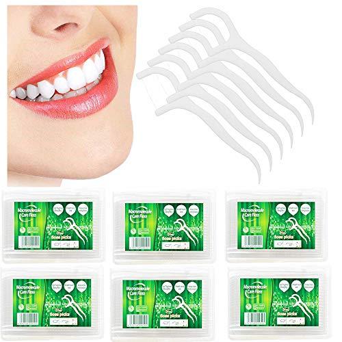Zahnseide 300 Stücke halten Zahnreinigung Zähne Sticks Interdentalbürste für die Mundreinigung Hochwertige flache Zahnstocher für die tägliche Mundgesundheit Schutz Floss Stick für Männer und Frauen