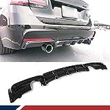 JC SPORTLINE F30 M Tech CF Diffuser, fits BMW 3 Series 320i 325i 328i 330i 335i 340i M Sport 2013-2018 Carbon Fiber Rear Diffuser Bumper Lip (Single Muffler Dual Out)