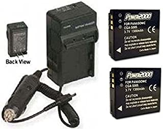 TWO 2 Batteries + Charger for Panasonic DMC-LX9, Panasonic DMC-LX9-S, Panasonic DMC-LX9-K, Panasonic DMC-LX9-H