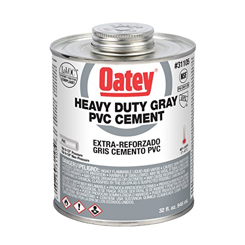 Oatey 31105 Cement, 32 oz, PVC Gray