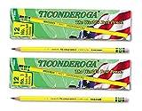 Ticonderoga Yellow Pencil, No.1 Extra Soft Lead, Dozen DIX13881 (2-Pack)