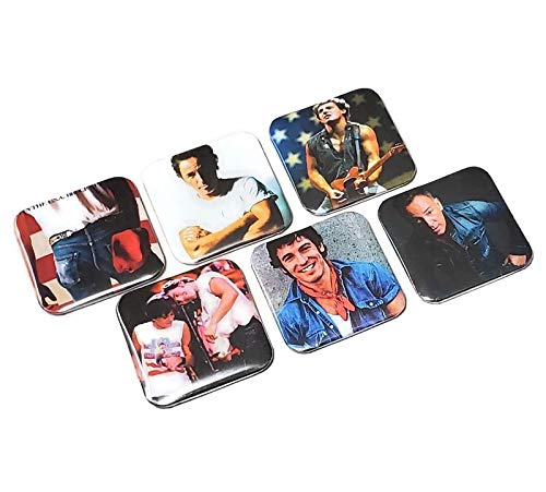 Bruce Springsteen Pinback Buttons The Boss Dancing In The Dark Classic Rock Band Gifts Born In The USA Vinyl Birthday Gift For Mom
