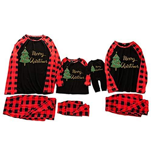Pyjamas Christmas Family PJs Matching Set Xmas Nightwear Outfit(A-161,XL)