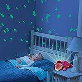 HSP Himoto 2 en 1 - Luz nocturna y cielo estrellado proyector para bebé infantil, 3 posibles luces LED de color (azul, rojo y verde), función de apagado automático y muchas otras funciones, nuevo