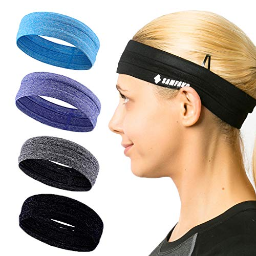 SAMFAVO Sports Headbands for Women and Men-Workout Headbands-Sweatband for Running Fitness Yoga Basketball