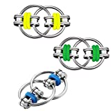 Vanblue 3Pcs Fidget Toys for ADHD Anxiety Flippy Chain Fidget Toy Bike Chain ADHD Fidget Toy for Adults Kids Relieves Stress Reducer