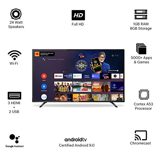 Kodak 102 cm (40 Inches) Full HD Certified Android LED TV 40FHDX7XPRO (Black) (2020 Model) 2