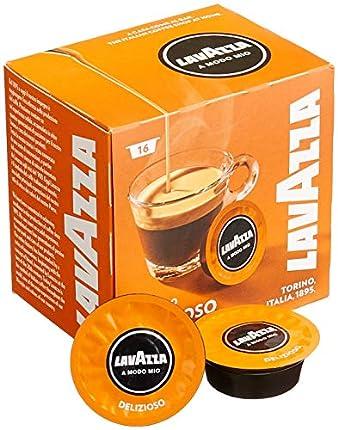 Lavazza A Modo Mio Deliziosamente, Pack of 5, 5 x 16 Capsules