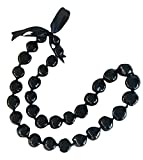 Kukui Nut Necklace Lei (Black 32 Nut)