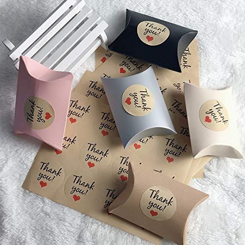 ZZSDG 108Pcs Papiergeschenk-Beutel danken Ihnen Dragee Süßigkeit-Papierbeutel-Aufkleber-Hochzeitsfest-Festliche Ereignis-Partei, die Versorgungsmaterialien einwickelt,Thank You Sticker
