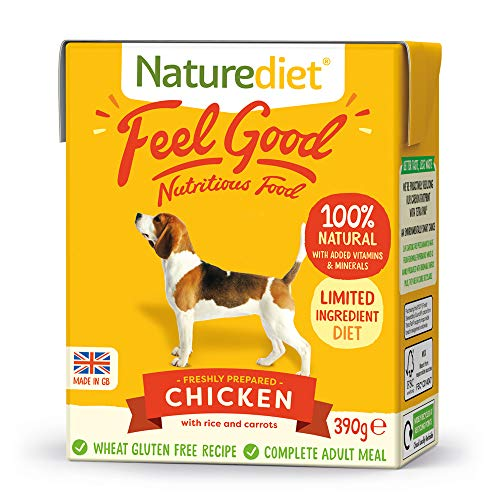 Naturediet Comida Húmeda Completa De Pollo Feel Good 390 G X 18 - Paquete de 18 x 416.67 gr - Total: 7500 gr
