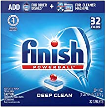Finish Powerball Tabs Dishwasher Detergent Tablets, Fresh Scent, 32 Count