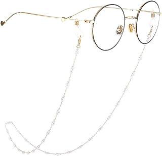 Yienate Bohême - Chaîne de lunettes avec perles - Accessoire de fixation pour lunettes de soleil - Doré