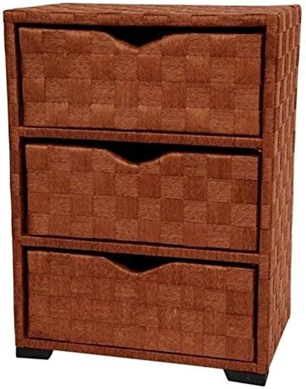 Oriental Furniture Natural Fiber Chest of Drawers - Three Drawer - Honey