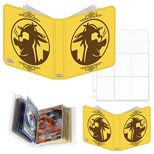 Totem World Detective Pikachu Inspired 3-Ring Binder with 25 9-Pocket Pages and a Mini Binder Collectors Album for Pokemon Cards