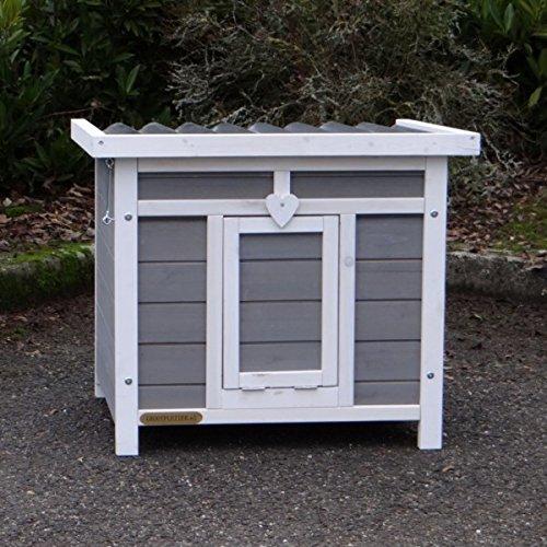 Animalhouseshop.de Kaninchenstall Little White mit ausziehbarer Kotwanne 60x50x51cm