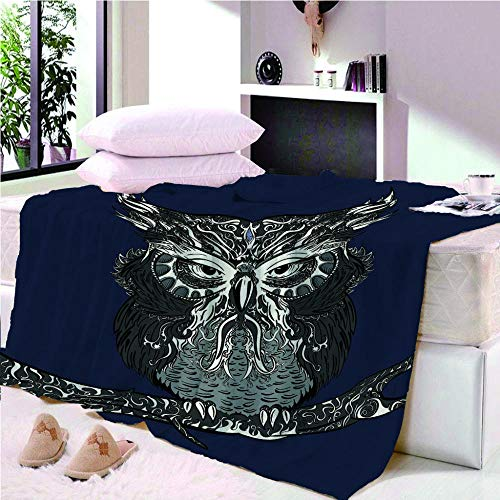 YASHASHII- Owl-Animal Printed Flannel Fleece Blanket for Adult Children,3D Design Bed Blanket,Soft Warm Microfiber Bedding for Bed Couch,150 * 200CM