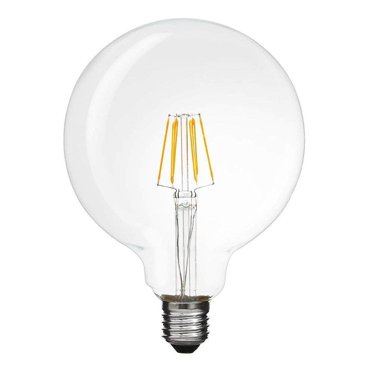 森しなやかな帝国主義エジソン電球 LED クリア電球 G125 フィラメント型 ボール電球 口金E26 / E27 100w相当 プレミアムLED電球 1000lm 長寿命 省エネ オリジナルランプ 調光不可 1個セット 昼光色 6000k