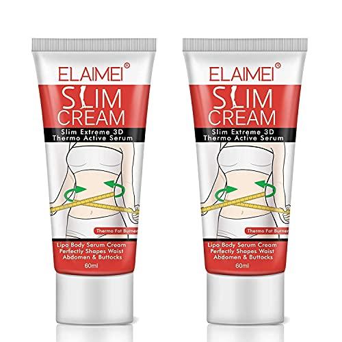 2 Pack Slimming Cream,Cellulite Removal Cream Fat Burner Weight Loss Slim Creams Leg Body Waist Effective Anti Cellulite Fat Burning(60ml)