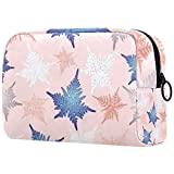 Bolsa de brochas de maquillaje personalizables, bolsas de aseo portátiles para mujeres, bolso de cosméticos, organizador de viaje, hojas distintivas