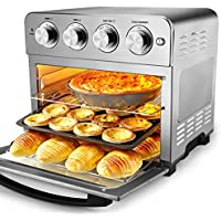 Geek Chef Air Fry Oven with 3-Rack Levels, 16 Preset Modes, Stainless Steel