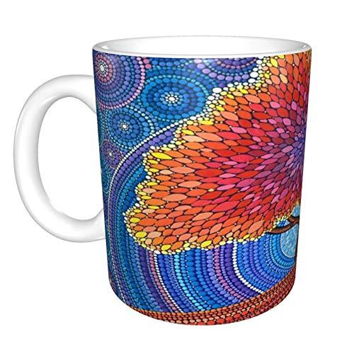 Hdadwy Aventador Home Taza de té de cerámica para oficina Taza de café de 10 onzas