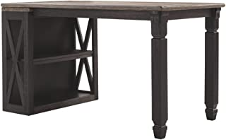 Ashley Furniture Signature Design - Tyler Creek Half Desk - Half Desk Only - Casual - Grayish Brown/Black Finish