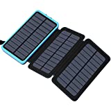 Solar Charger 24000mAh, FEELLE Portable Charger External Battery Pack with Dual USB Ports Waterproof Phone Charger for Smart...