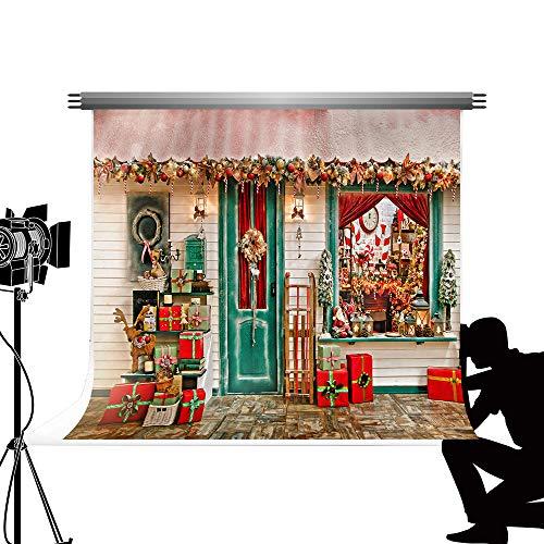 Kate 3x2m Telón de Fondo navideño de Navidad Fondo de fotografía de escaparate de Navidad de Madera Varias Decoraciones navideñas Telones de Fondo para Estudio fotográfico