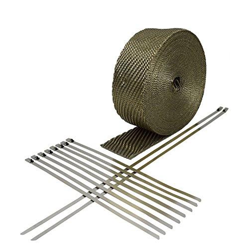 Heatshield Products 372051 Lava Exhaust Wrap Kit, 2