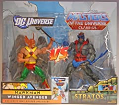 DC Universe/Masters of the Universe Classics Comic 2-Pack from Mattel This Toys 'R Us excluive 2-pack includes Hawkman and Stratos For Ages 4 & Up