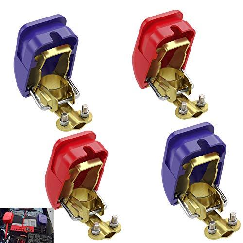 4 X KFZ Auto Batterie Schnellverschluss-Batterieklemmen Klemmen Caravan Motorhome Terminal Pair Boot PKW Klemmen