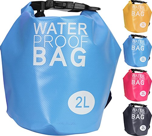 Mayfield Living DryBag Funda Protectora Impermeable para Monedero Smartphone Vacaciones Playa Boot 2L Naranja Naranja